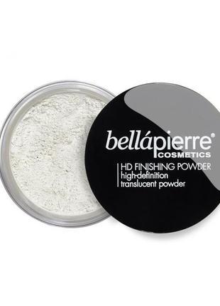 Bellapierre cosmetics hd бесцветная фиксирующая рассыпчатая пудра, 6,5 гр