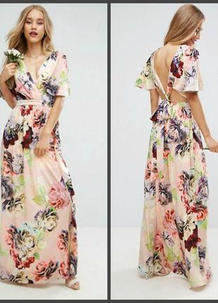 Платье невероятной красоты на запах asos (40р и больше см.замеры)