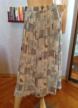 Нежнейшая английская юбка плиссе, р. 52-54 (uk 18)