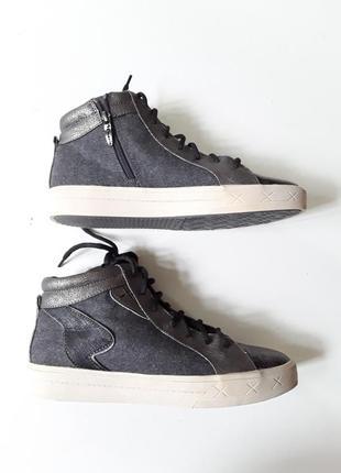 Кеды ботинки  металлик