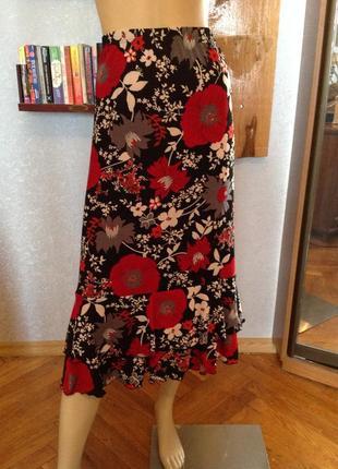 Большой размер, канадская юбка бренда kim&co, р. 54-56.