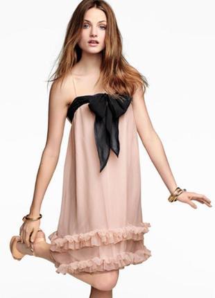 Милое пудровое платье от h&m