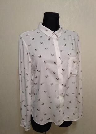 Классическая рубашка блузка в пандах bershka
