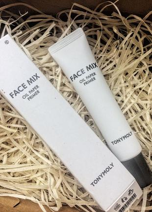 Праймер tony moly face mix oil paper