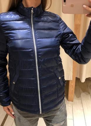 Стеганая синяя демисезонная куртка house размер м