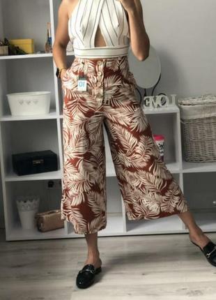 Кюлоты брюки палаццо льон