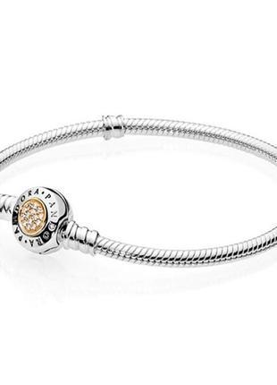 Серебряный браслет с кубическим цирконием в стиле pandora пандора1 фото
