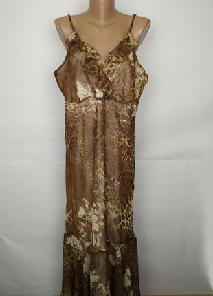 Платье новое шифоновое привлекательное в анималистический принт marks&spencer uk 20/48/3xl