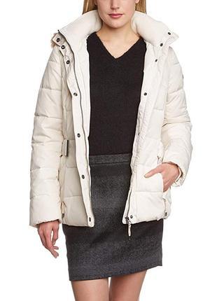 Esprit женский пуховик с капюшоном из искусственного меха