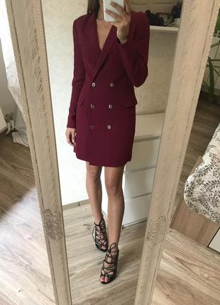 Платье пиджак s bershka