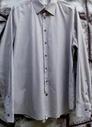 Стильная мужская рубашка из 100% хлопка.оригинал seidensticker германия