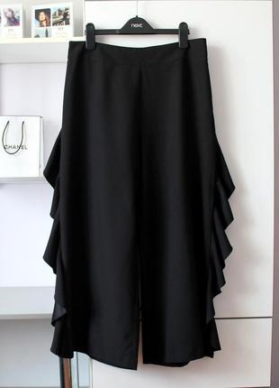 Черные кюлоты со шляркой от miss selfridge
