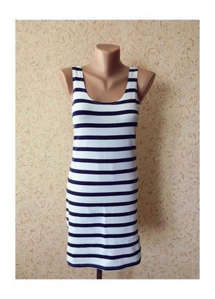Платье - майка морячка в полосочку