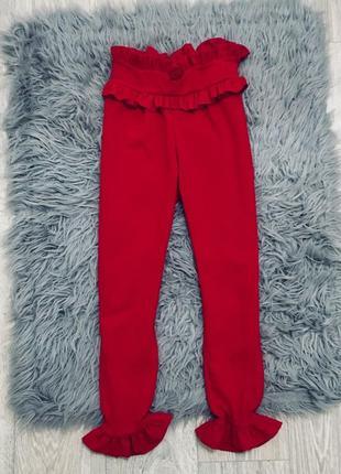 Брюки штаны штани prettylittlethings красные червоні