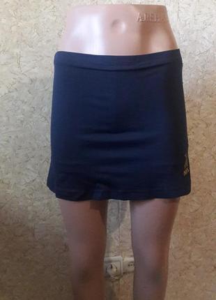 Темно-синяя юбка с шортами