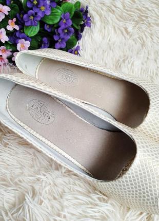 ♠️ текстурные туфли с открытым носком 39 (25 см) ♠️6 фото