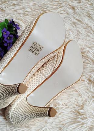 ♠️ текстурные туфли с открытым носком 39 (25 см) ♠️8 фото