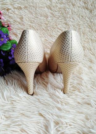 ♠️ текстурные туфли с открытым носком 39 (25 см) ♠️5 фото