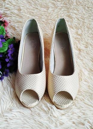 ♠️ текстурные туфли с открытым носком 39 (25 см) ♠️4 фото