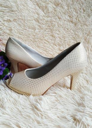 ♠️ текстурные туфли с открытым носком 39 (25 см) ♠️2 фото