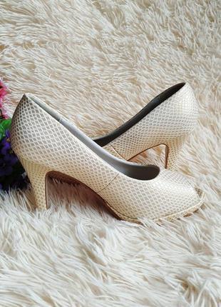 ♠️ текстурные туфли с открытым носком 39 (25 см) ♠️3 фото