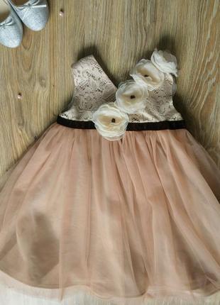 Нарядное платье для девочки 2-4 года3 фото