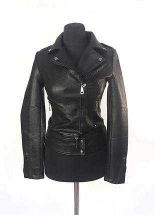 Куртка косуха yarina 313. черная куртка трансформер