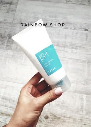 Гель-молочко для снятия макияжа cosrx low-ph first cleansing milk gel корейская косметика