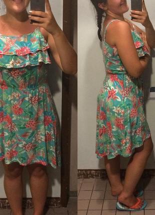 Летнее платье  с воланом літнє плаття lindex