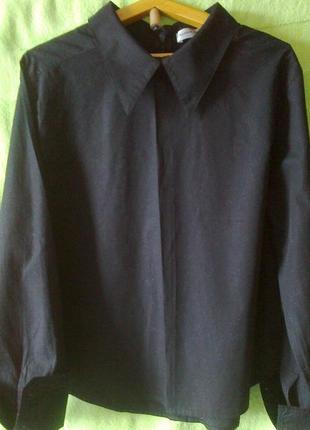 Блузка-рубашка женская новая  хлопок  100% размер наш 42-44 вьетнам плюс подарок