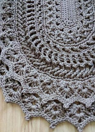 Коврик приліжковий плетений