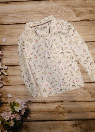 Рубашка ,блузка некст на девочку 4-5лет