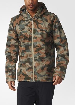Мужская куртка ветровка дождевик камуфляжная pull&bear в стиле милитари