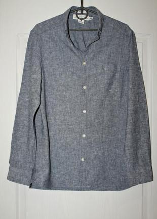 Мужская льняная рубашка