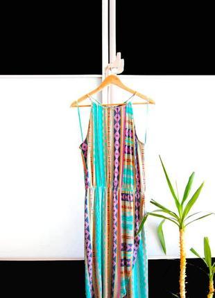 Платье сарафан f&f в яркий орнамент