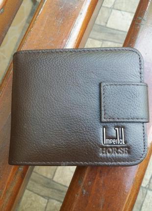 Кошелек из натуральной кожи. кожаный мужской портмоне кожаное чоловічий гаманець