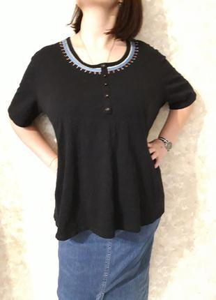 Блузка с вышивкой супер батал размер 24-26
