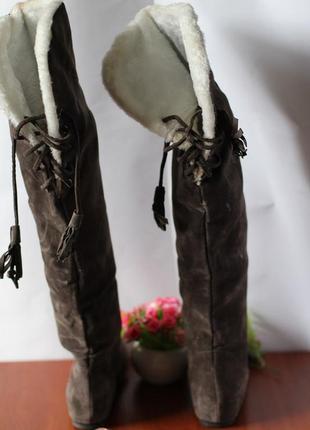 Высокие коричневые сапоги ботфорты 39 размера