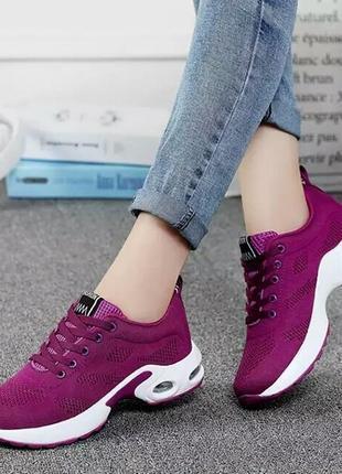 Женские кроссовки; летняя модная дышащая повседневная обувь из сетчатого материала .