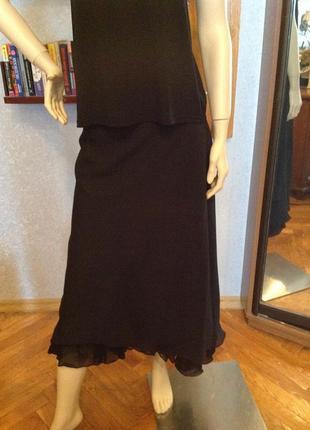 Большой размер, батал, юбка двойная бренда marks&spencer, р. 60-64,