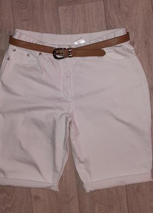 Шорты джинсовые на широкие бедра xl 14р. 32-33р. стрейч