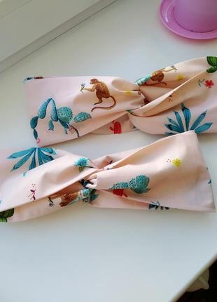 Яркая летняя повязка ободок, чалма повязка на голову