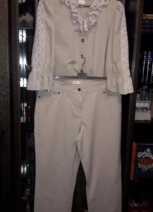 Костюм брюки и пиджак -блуза.  коттон100%.