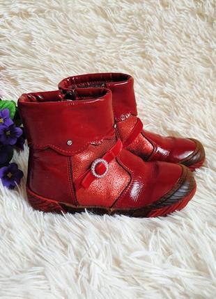 ♠️ зимние кожаные ботики bartek 25 (16 см) ♠️