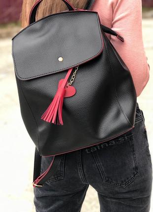 8 цветов! рюкзак сумка черный с красным городской рюкзачок вместительный а4