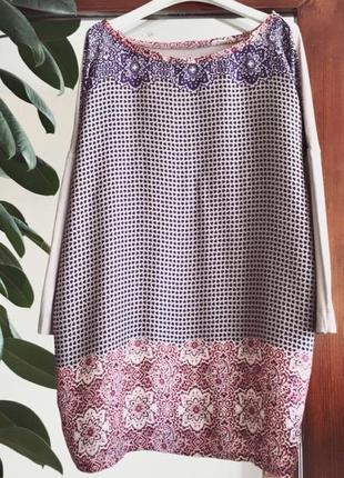 Шелковистая блузка цветочный принт maddison кофта цветы