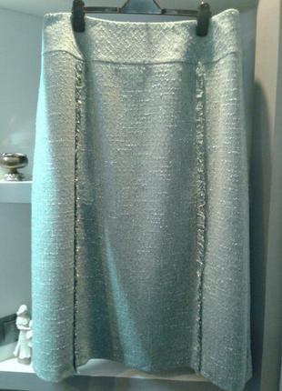 👑шикарная шерстяная юбка на подкладке от нишевого бренда penny plein👑