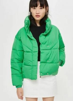 Нереально крутая утепленая куртка topshop💚💚💚
