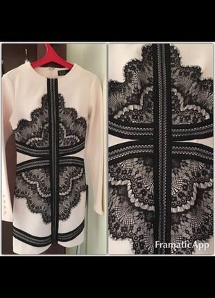 Раскошное платье с узором,xs