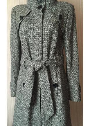 Стильное пальто *next* 12 р. - 50% шерсть